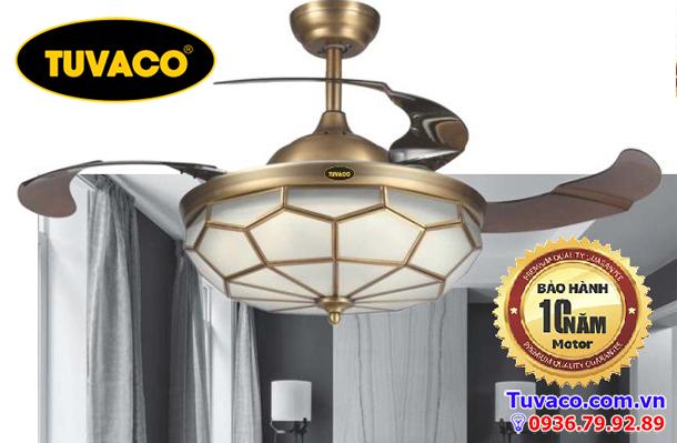 Quạt trần trang trí tuvaco C600tv-02c