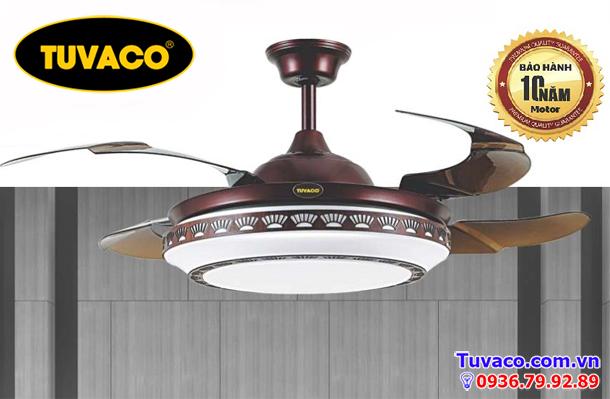Quạt trần trang trí cánh xếp tuvaco C600a10-27