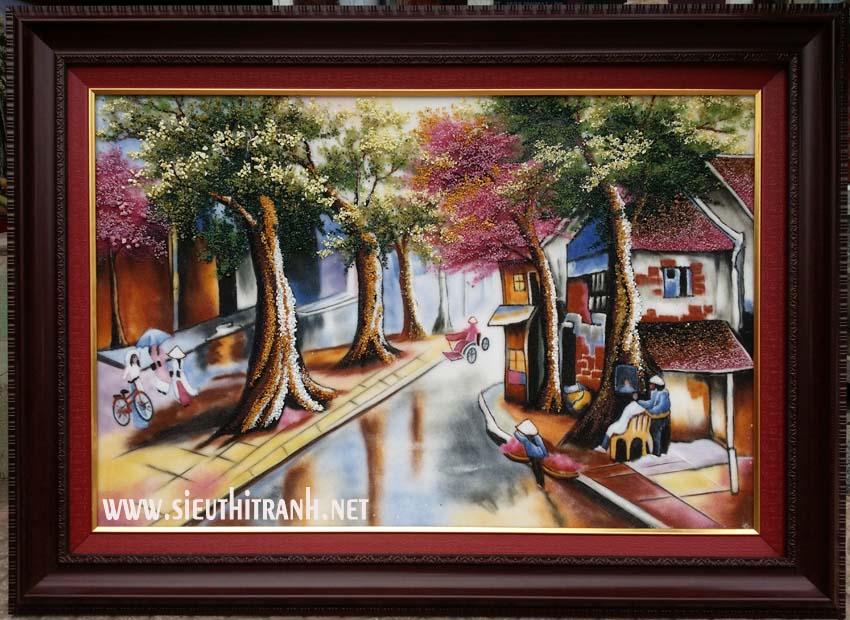 Tranh đá quý ,Phố cổ Hà Nội