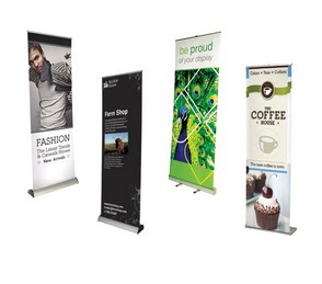 Standee chữ X - Baner cuốn