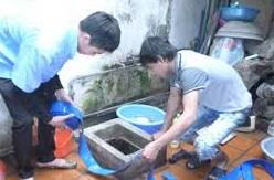 Thau rửa bể nước ăn, bể ngầm