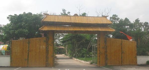 Thi công cổng tre