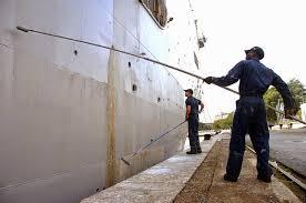 Thi công sơn tàu