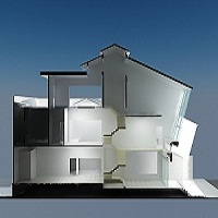 Thiết kế kiến trúc nhà lệch tầng Thiết kế xây dựng