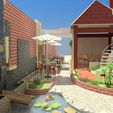Thiết kế quán café ngoài trời