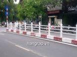 Hàng rào giải phân cách nhựa lõi thép