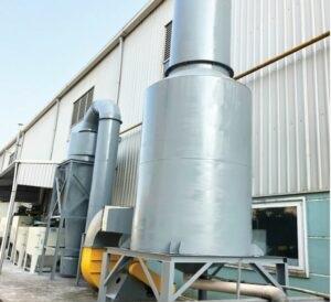 Hệ thống hút lọc bụi khí thải hấp thụ