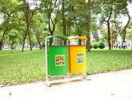 Thùng rác công viên Composite