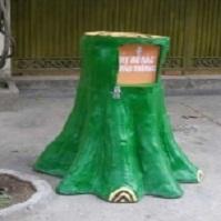 Thùng rác gốc cây
