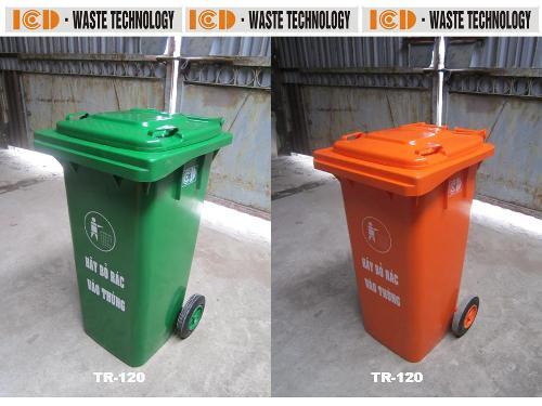 Thùng rác nhựa HDPE 120L