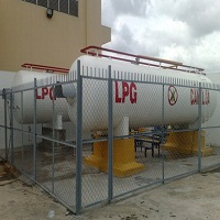 Trạm 2 bồn chứa gas 10 tấn