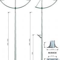 Trụ sắt lắp đèn đường