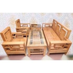 Bàn ghế phòng khách gỗ sồi nga