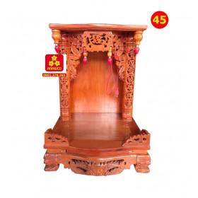 Tủ ông địa bằng gỗ Căm Xe 48.68 chữ