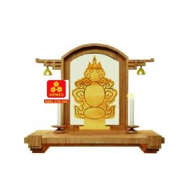 Bàn thờ chung cư bằng gỗ Sồi