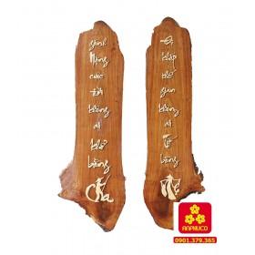 Câu đối thờ gia tiên gỗ Hương 153
