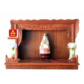 Trang thờ chạm sen gỗ Căm Xe